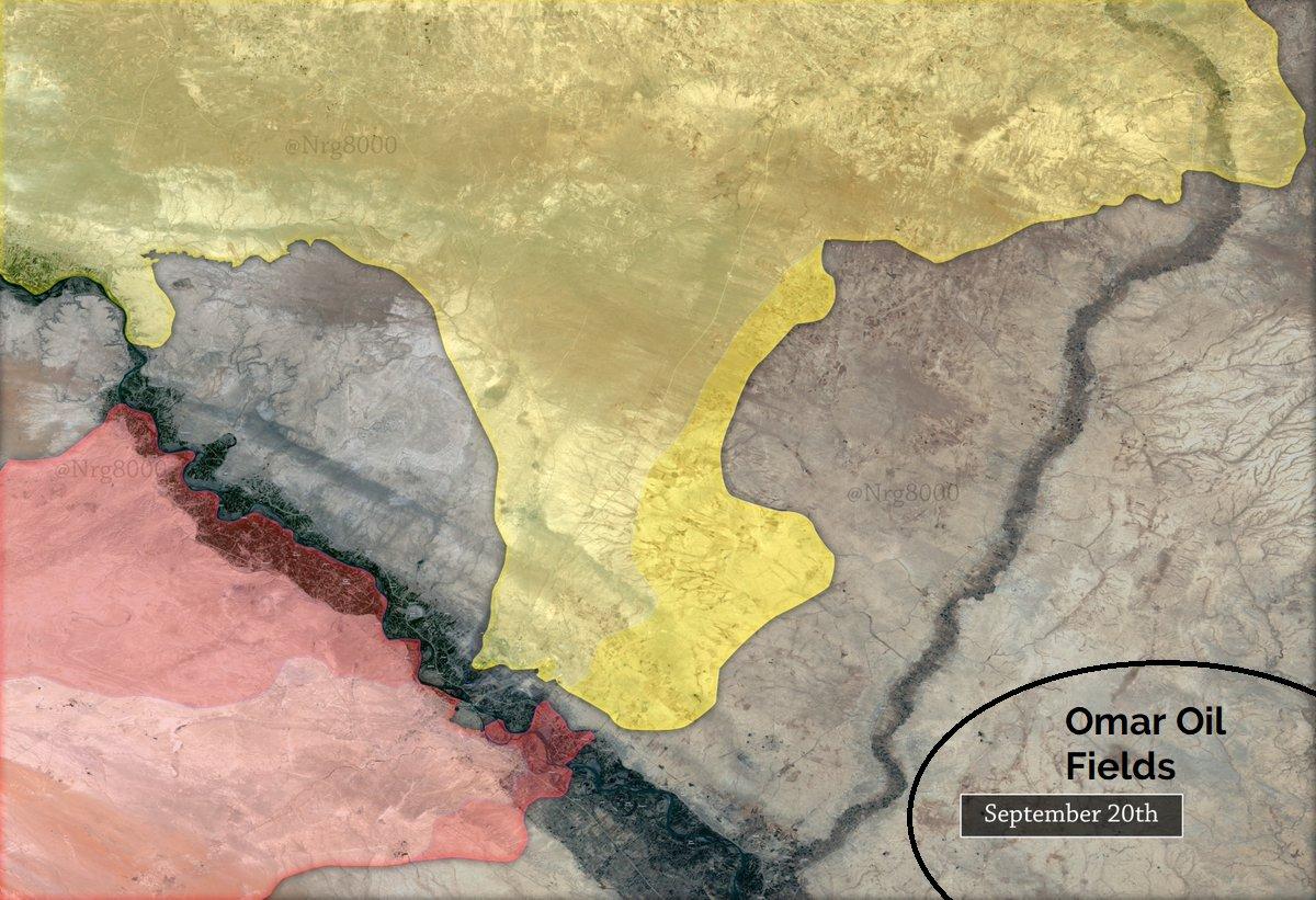 Месторождение Омар, цель Асада, цель SDF