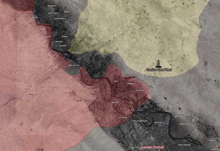 Карта SDF захватил завод газовый завод Conoco