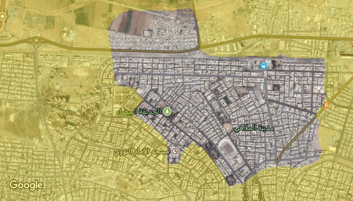 Последняя ситуация в городе Ракка, расстановка сил, по состоянию на 25 сентября