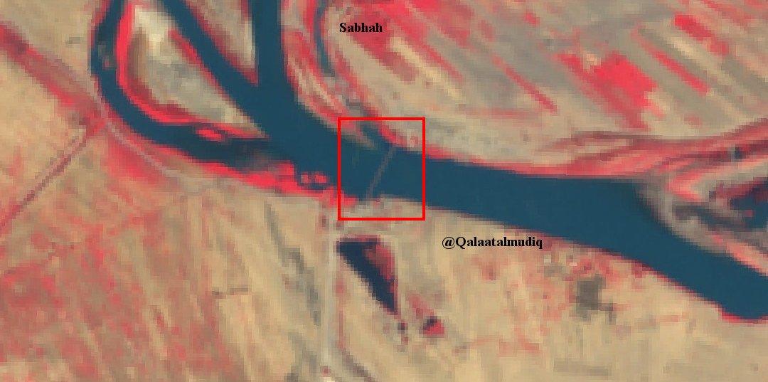 Переправа Асадистов через реку Ефрат, впервые на инфракрасных снимках
