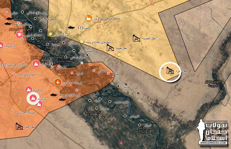 SDF захватили Jufrah нефтеносное месторождение вблизи города Дейр-аз-Зор