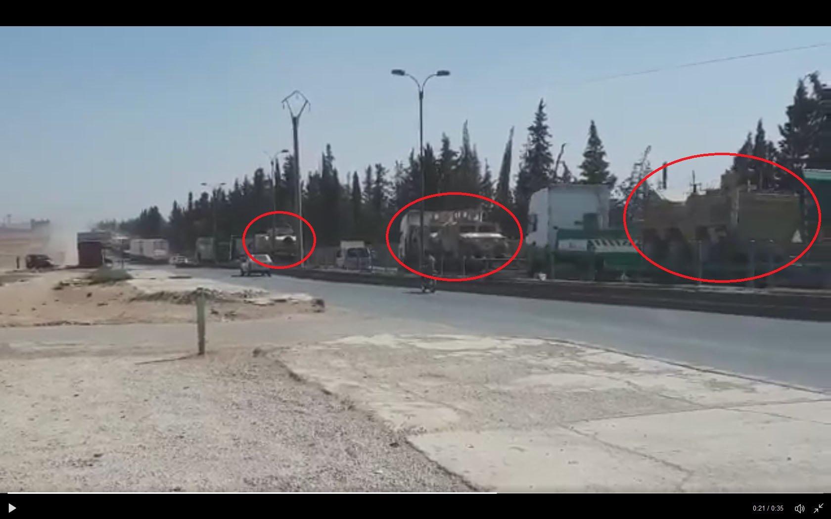 Конвой SDF в поддержку наступления на месторождения Омар