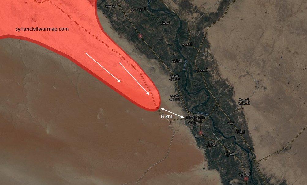Новое наступление сил Асада, цель городок Аль-Майдин