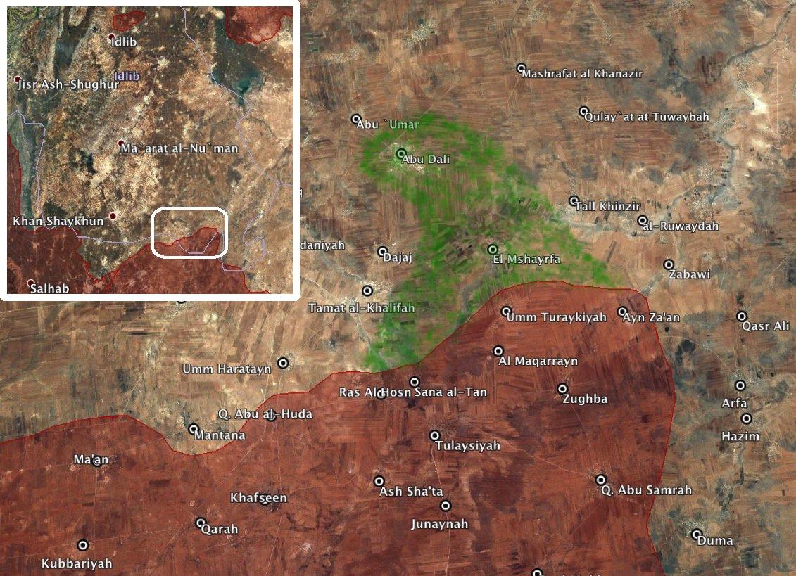 За сутки Асадисты потеряли три населенных пункта в Хаме