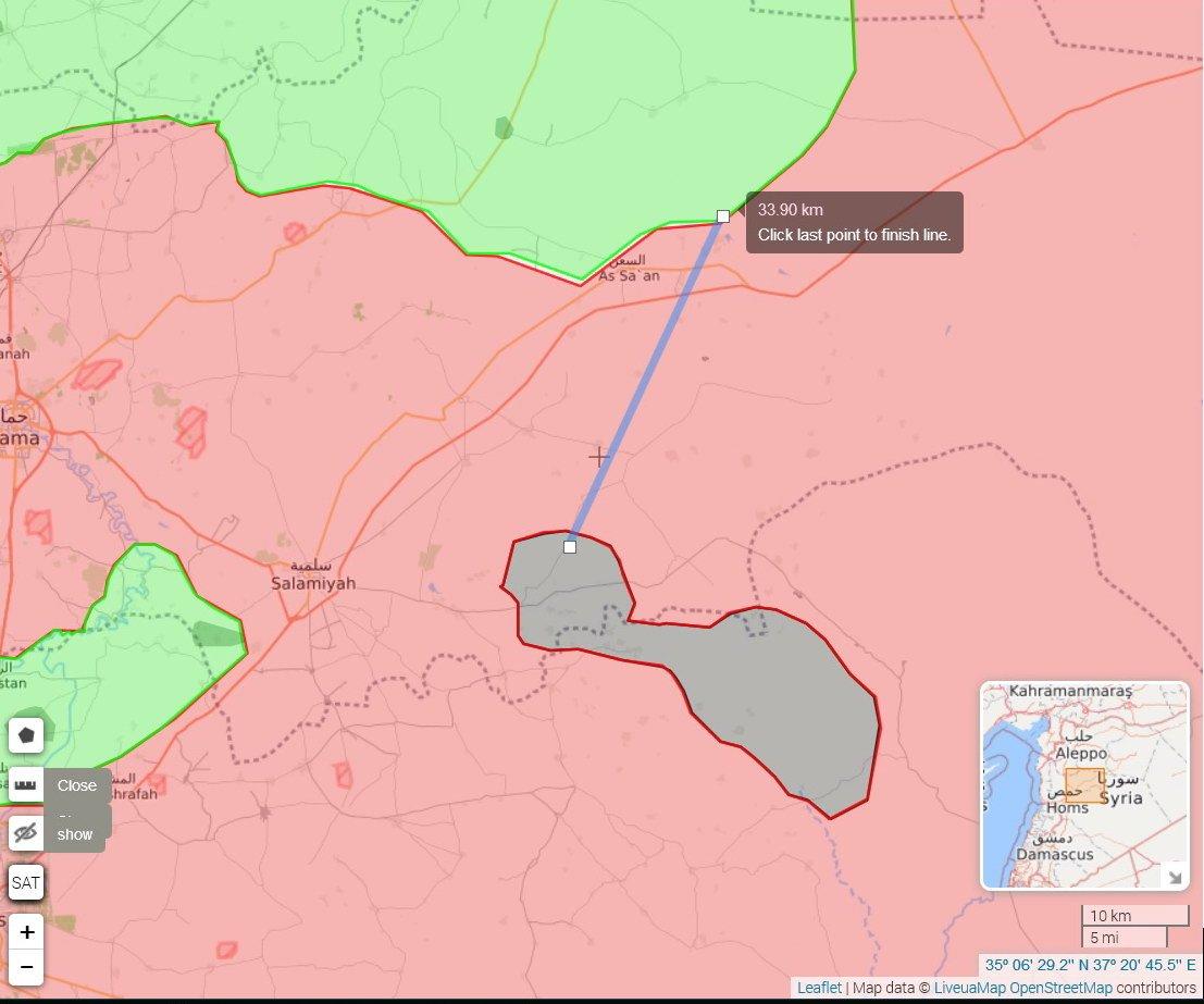 34 км, по территории Асада, из окруженного котла, случайность? Я так не думаю ...