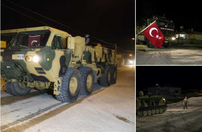 Тяжелая техника Турции на территории Идлиба