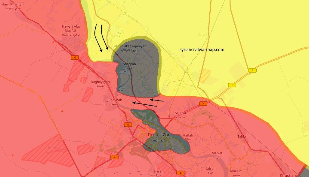 карта военной обстановке на Дейр-аз-Зор