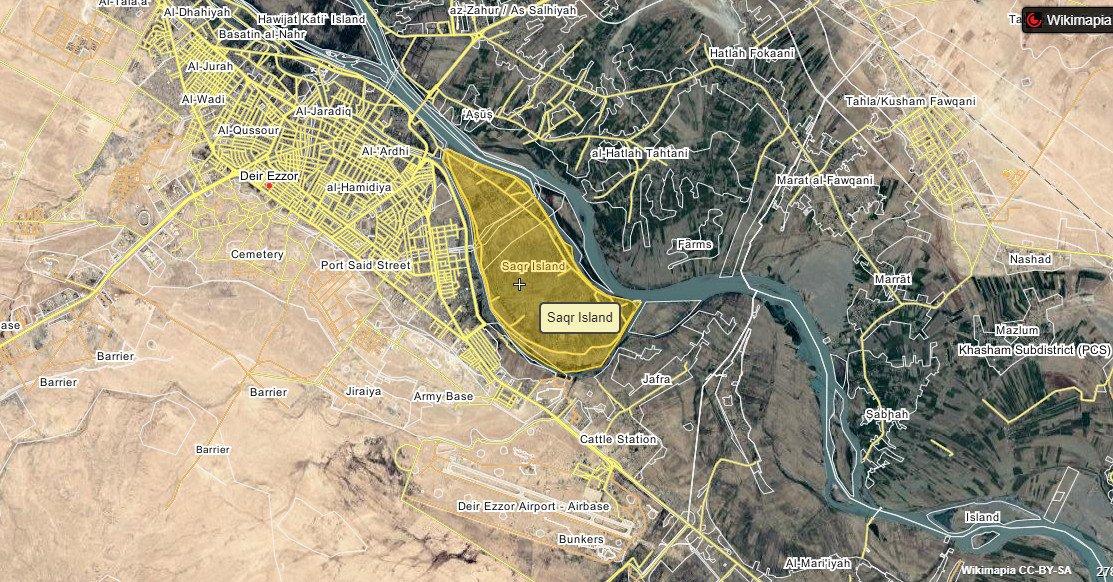 Силы Асада, проводили наступательную операцию против боевиков на одном из островов вблизи города Дейр-аз-Зор