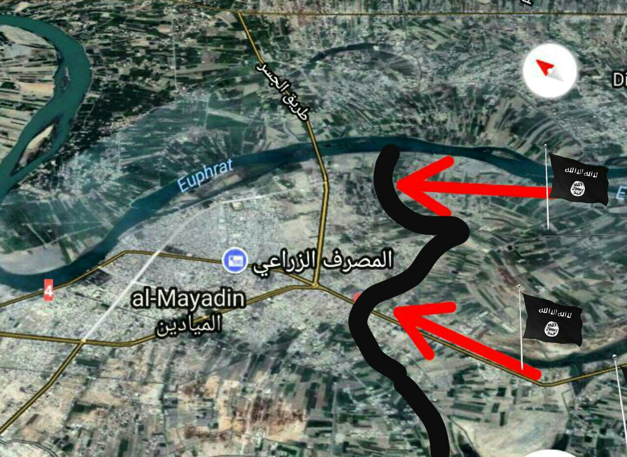 Сейчас боевики штурмуют:  Аль-Mayadin
