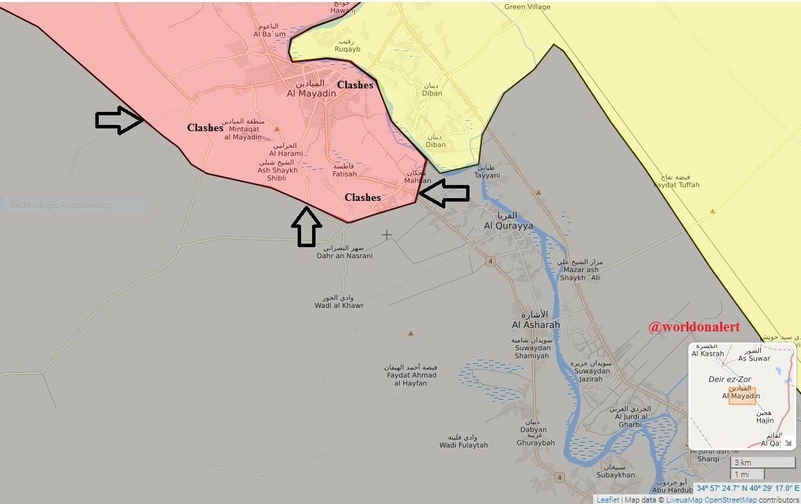 Наступление боевиков на позиции армии Асада в провинции Дейр-аз-Зор