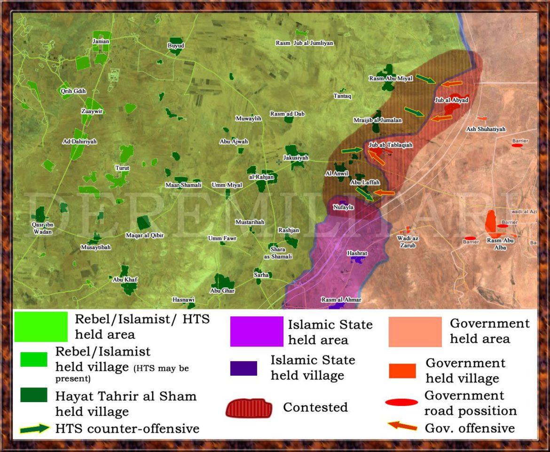 Военная обстановка в Хама, наступление Асадистов и анклав боевиков