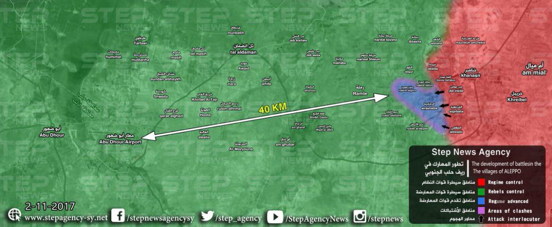 Новая цель Асадистов и их наемников - аэродром Абу-Дахур, провинция Идлиб