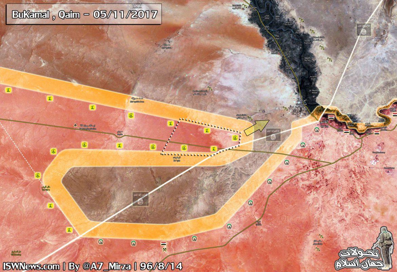Движение сил Асада в районе границы с Ираком