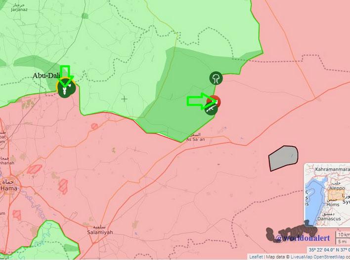 Ожесточенные бои в провинции Хама и Алеппо