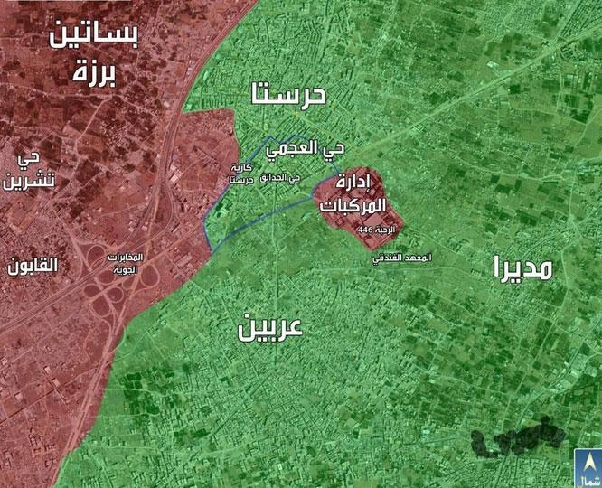 Хараста, окруженные силы Асада