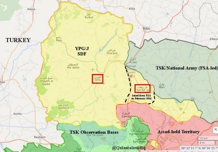 """""""Оливковая ветвь"""" - начало Турецкой военной операции в Сирии, наступление на курдский анклав Арфин"""